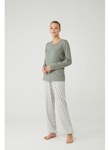 Mod Collection Kadın Pijama Takımı Haki